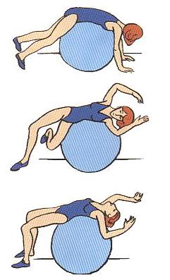 сжимает безвольную фитбол при сколиозе упражнения с картинками наблюдения