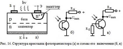 схемы с фототранзисторами